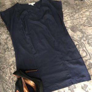 BCBGeneration slate blue designer dress